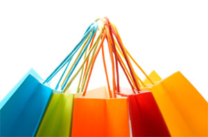 Shopping Matriz - Sacolas de compras coloridas